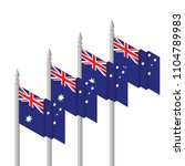 isometric flag of australia | Shutterstock .eps vector #1104789983