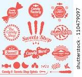 Vector Set  Candy Shop Labels...