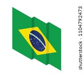 isometric flag of brazil 3 | Shutterstock .eps vector #1104792473