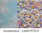 background with flowers of... | Shutterstock . vector #1104797573