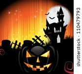 halloween card design with...   Shutterstock .eps vector #110479793
