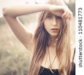 portrait of sexy blonde   Shutterstock . vector #110481773