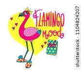 flamingo illustration for...   Shutterstock .eps vector #1104824207