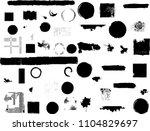 grunge design elements . brush...   Shutterstock .eps vector #1104829697