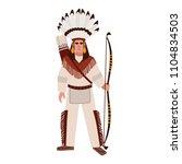 american indian man or warrior... | Shutterstock .eps vector #1104834503