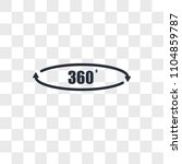360 degree vector icon isolated ...   Shutterstock .eps vector #1104859787