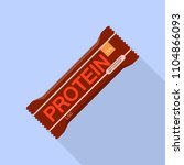 new protein bar icon. flat... | Shutterstock .eps vector #1104866093