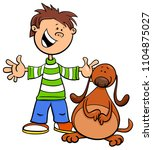 cartoon illustration of kid boy ... | Shutterstock .eps vector #1104875027