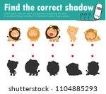 cute little lion find the... | Shutterstock .eps vector #1104885293