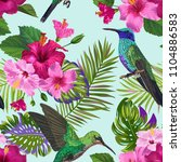 tropical seamless pattern with... | Shutterstock .eps vector #1104886583