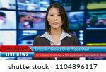 asian american anchorwoman with ... | Shutterstock . vector #1104896117