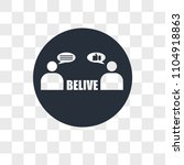 believe vector icon isolated on ... | Shutterstock .eps vector #1104918863