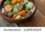 classic  amish beef stew   ... | Shutterstock . vector #1104920243