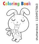coloring book cute cartoon... | Shutterstock .eps vector #1104927863