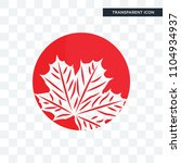 canadian leaf vector icon... | Shutterstock .eps vector #1104934937