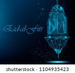 eid al fitr bright greeting... | Shutterstock .eps vector #1104935423