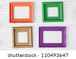 Four Photo Frames On The White...