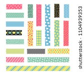adhesive stripe with fancy... | Shutterstock .eps vector #1104939353