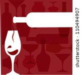 wine bottle serving a glass... | Shutterstock .eps vector #110494907