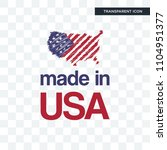 made in usa vector icon... | Shutterstock .eps vector #1104951377