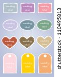 wedding label colorful card | Shutterstock .eps vector #110495813