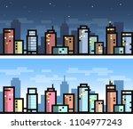 vector simple city seamless... | Shutterstock .eps vector #1104977243