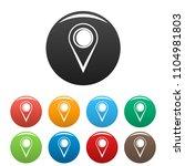 location mark icon. simple... | Shutterstock .eps vector #1104981803