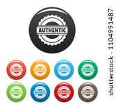 authentic logo. simple...   Shutterstock .eps vector #1104991487