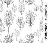 seamless pattern with tropical... | Shutterstock .eps vector #1105004633