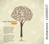 vector illustration with pencil | Shutterstock .eps vector #110500517