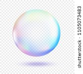 water soap bubble isolated on... | Shutterstock .eps vector #1105073483