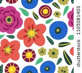 blossom and florals seamless... | Shutterstock .eps vector #1105081403