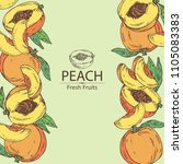 background with peach and peach ...   Shutterstock .eps vector #1105083383