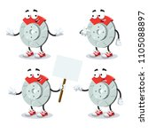 set of cartoon car brake mascot ... | Shutterstock .eps vector #1105088897