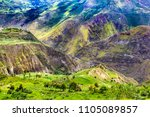 beautiful andean highland... | Shutterstock . vector #1105089857