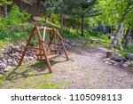 swinging bench chair swing seat ...   Shutterstock . vector #1105098113