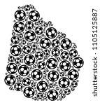 football uruguay map. vector... | Shutterstock .eps vector #1105125887