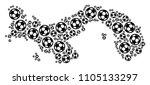 football panama map. vector... | Shutterstock .eps vector #1105133297