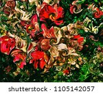 abstract psychedelic background ... | Shutterstock . vector #1105142057