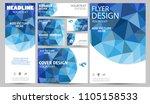 blue corporate identity set... | Shutterstock .eps vector #1105158533