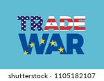 trade war between european... | Shutterstock .eps vector #1105182107