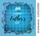 happy father's day greeting... | Shutterstock .eps vector #1105210583