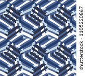 vector abstract striped pattern ... | Shutterstock .eps vector #1105220867