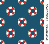 lifebuoy cruise marine... | Shutterstock .eps vector #1105223927