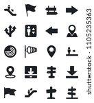 set of vector isolated black... | Shutterstock .eps vector #1105235363