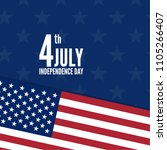 4th of july  united stated... | Shutterstock .eps vector #1105266407