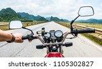 first person view of traveler...   Shutterstock . vector #1105302827
