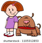 cartoon illustration of cute... | Shutterstock .eps vector #1105312853