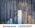 wood background with vertical...   Shutterstock . vector #1105313957