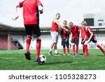 full length portrait of junior... | Shutterstock . vector #1105328273